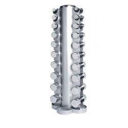 Dumbbelltower with chrome dumbbellset 1-10kg
