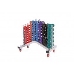 Vinyl dumbbell rack | Exclusief dumbbells