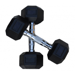 Hexagon Dumbbells Rubber 1-50kg