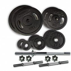Hammer Gewichtenset 53 kg (incl. stangen-schijven-sluiters)