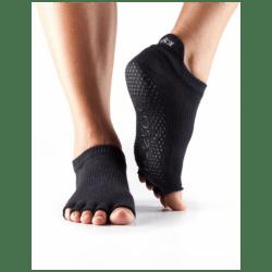 Enkelsokken zonder tenen ToeSox | zwart