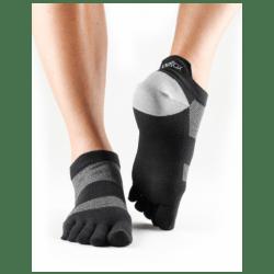 ToeSox sokken met tenen Lolo   Zwart/grijs