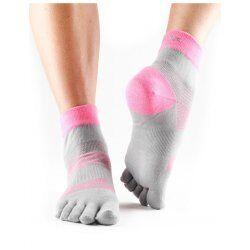 ToeSox sokken met tenen Minnie Flush | Grijs/roze L