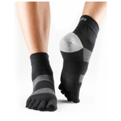 ToeSox sokken met tenen Minnie   Zwart/grijs
