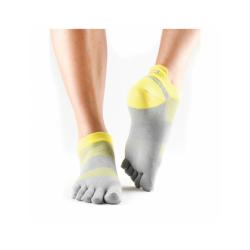 ToeSox sokken met tenen Lolo Daylight - geel/grijs
