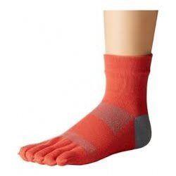 Toesox sokken met tenen Minnie Papaya   Oranje grijs