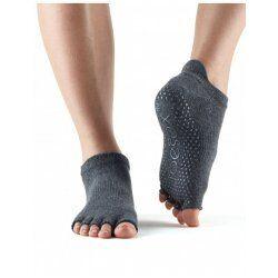Antislip sokken enkel zonder tenen in Charcoal Grey