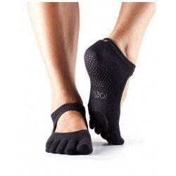 ToeSox Antislip Sokken met Tenen Plie Dans Sokken – Zwart S/M/L