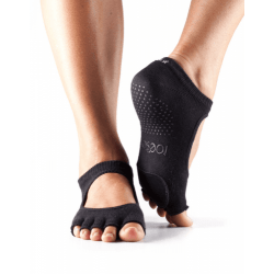 ToeSox Antislip Sokken zonder Tenen Plie Dans Sokken – Zwart M