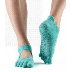 Toesox Bellarina sokken met tenen Aqua