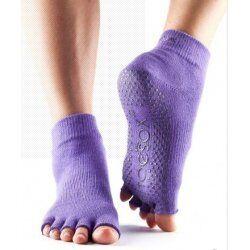 Toesox sokken zonder tenen paars