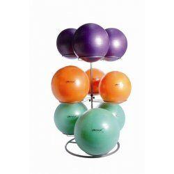 Gymball rack zilver 9 ballen
