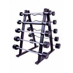 Barbell rack for 10 pcs (black) LMX1067
