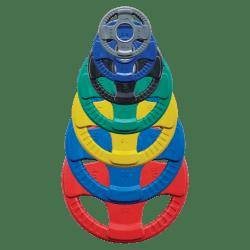 Gekleurde olympische rubberen halterschijven 1,25-25kg