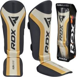 RDX T17 Aura-scheenbeenbeschermers Zwart goud