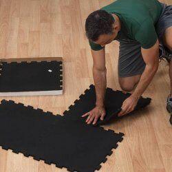 Body-Solid Rubberen Puzzelmatten Zwart (4 PACK 50X50CM)