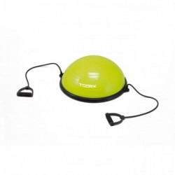 Toorx Balanstrainer  - Ø 58 cm - Lime Groen - met Resistance Tubes - incl pomp