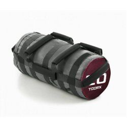Toorx Powerbag 20 kg met 7 hendels - grijs - donkerrood