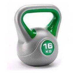 BodyTrading Kunststof kettlebells KBPL (per stuk)16 kg Grijs/Groen