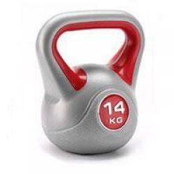 BodyTrading Kunststof kettlebells KBPL (per stuk)14 kg Grijs/Rood