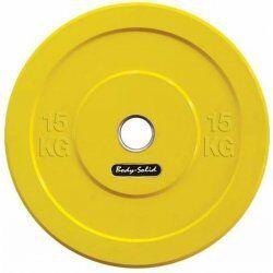 Body-Solid Olympische Bumper Plates15 kg - Geel