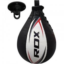 RDX Bokstraining lederen Speedbal | Speed BagZwart - Wit