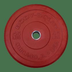 Body-Solid Chicago Extreme Gekleurde Olympische Bumper Plates OBPXCK25 kg Rood