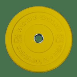 Body-Solid Chicago Extreme Gekleurde Olympische Bumper Plates OBPXCK15 kg Geel