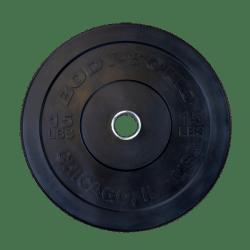 Body-Solid Chicago Extreme Gekleurde Olympische Bumper Plates OBPXCK5 kg Zwart