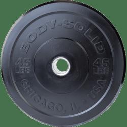 Body-Solid Chicago Extreme Zwarte Olympische Bumper Plates OBPXK25 kg