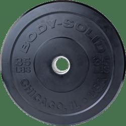 Body-Solid Chicago Extreme Zwarte Olympische Bumper Plates OBPXK20 kg