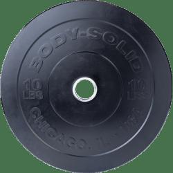 Body-Solid Chicago Extreme Zwarte Olympische Bumper Plates OBPXK5 kg
