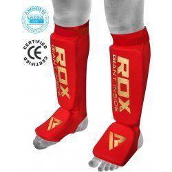 RDX Hosiery Shin Instep FoamRood - Maat: XL