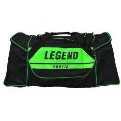 Sporttas Legend met 3 rits vakken zwart neon groen - Default