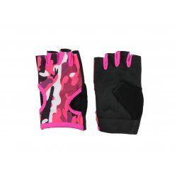 Fitness handschoenen dames Easy Drifit camo roze - Maat: L